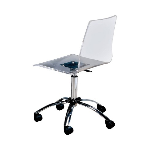 Jacques Modern Office Chair Clear - ioHOMES - image 1 of 3