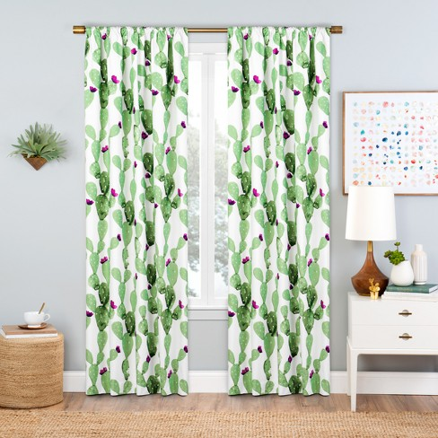Otto Thermaback Blackout Curtain Panels Cactus / White -<br> Eclipse - image 1 of 1