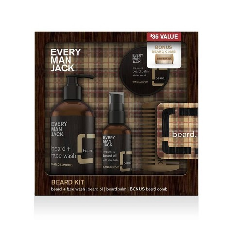 Every Man Jack Sandalwood Beard Kit - 5pc - image 1 of 4