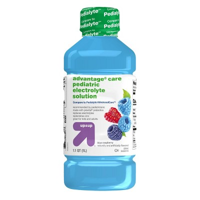 Blue Raspberry Oral Electrolyte Solution (Compare to Pedialyte® AdvancedCare)- 1L - Up&Up™