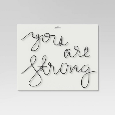 'You Are Strong' Wall Decal Black - Project 62™