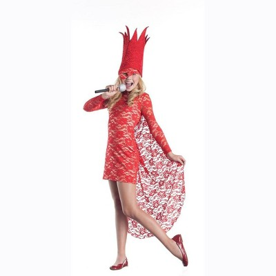 Party King Red Lace Lady Pop Star Costume Dress Child