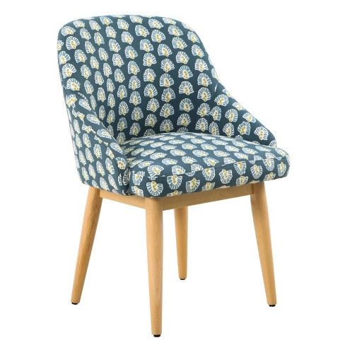 Riley Accent Chair Floral Teal - HomePop - image 1 of 4