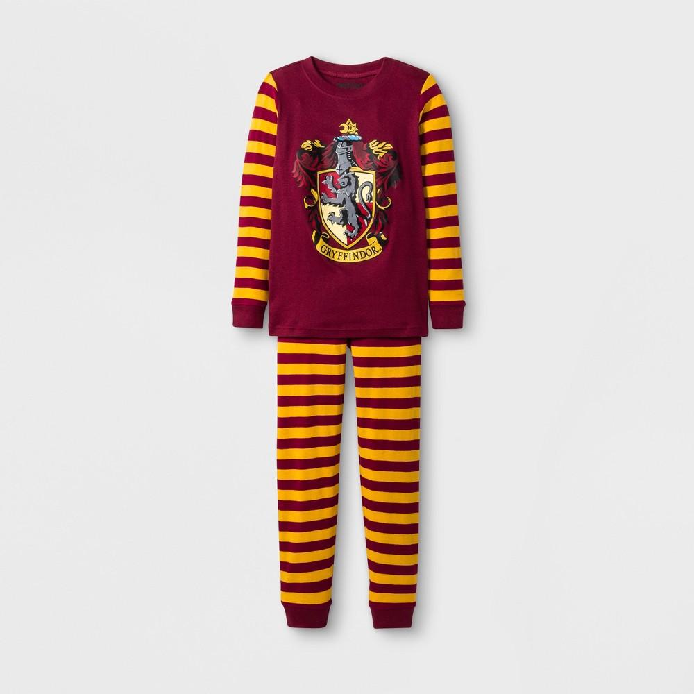 Boys' Harry Potter Gryffindor 2pc Pajama Set - Burgundy/Yellow 12, Multicolored