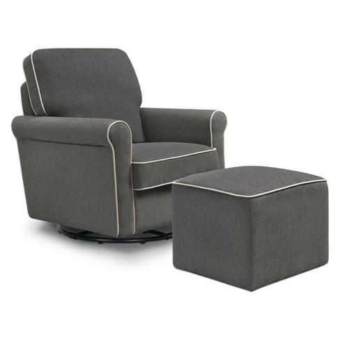 Amazing Davinci Maya Swivel Glider And Ottoman Alphanode Cool Chair Designs And Ideas Alphanodeonline