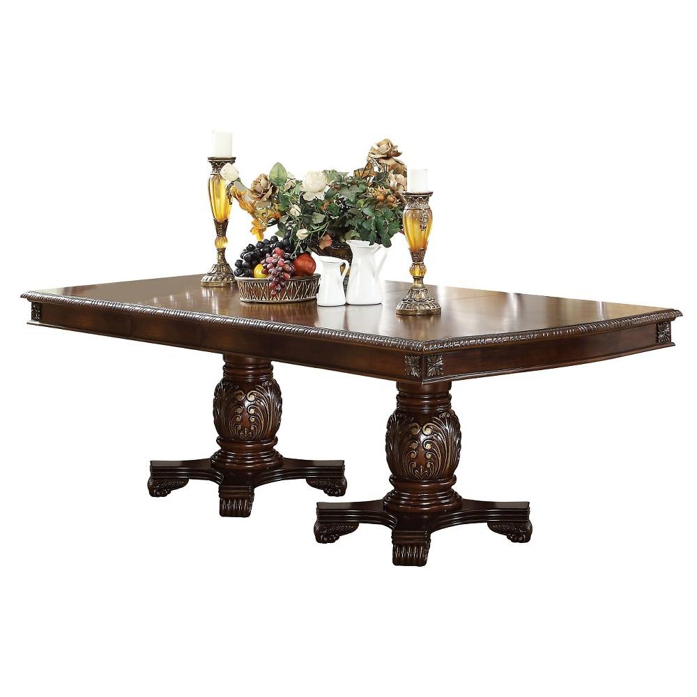 Chateau De Ville Dining Table with Double Pedestal - Espresso - Acme, Espresso Brown