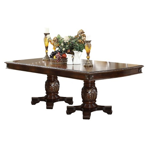 Chateau De Ville Dining Table with Double Pedestal - Espresso - Acme - image 1 of 2