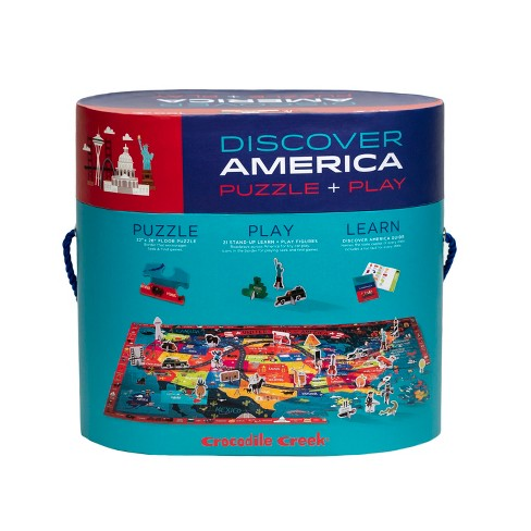 Crocodile Creek Discover: America Map Puzzle 100pc - image 1 of 4