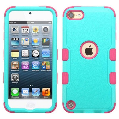 MYBAT For Apple iPod Touch 5th Gen/6th Gen Teal Hot Pink Tuff Hard Hybrid Case Cover
