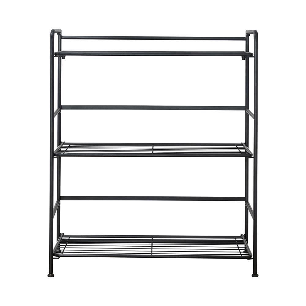 Image of Wide 3 Shelf Black - FlipShelf