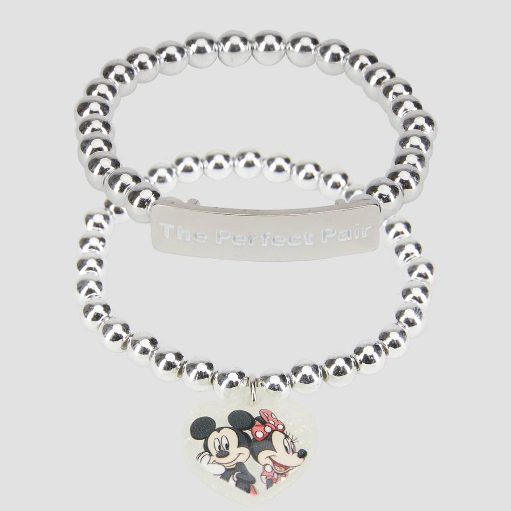 Girls 39 Disney Mickey 38 Minnie 2pc Friendship Bracelet Disney Store