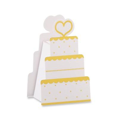 Set Of 12 Wedding Cake Favor Box White