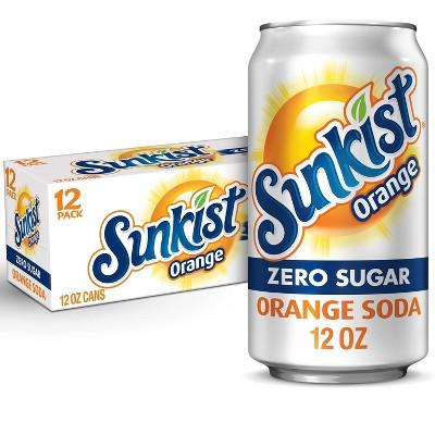 Sunkist Zero Sugar Orange Soda - 12PK/12 fl oz Cans