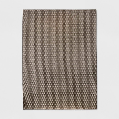 Basketweave Outdoor Rug Coffee - Smith & Hawken™ - image 1 of 4