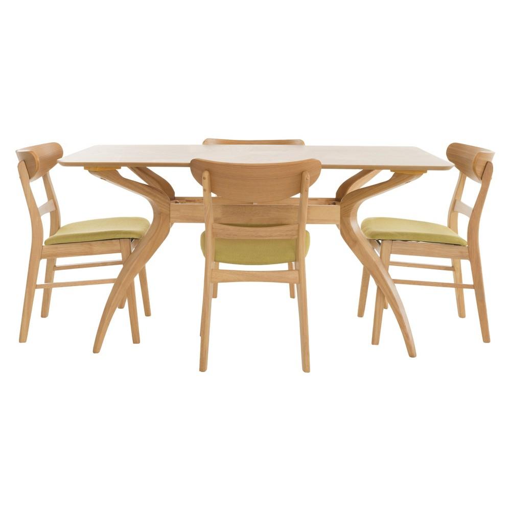 Idalia 60 5pc Dining Set - Green Tea/Natural Oak - Christopher Knight Home, Green Tea/Brown