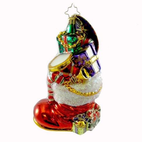 Christopher Radko Gifts To Boot Ornament Santa Drum - image 1 of 2