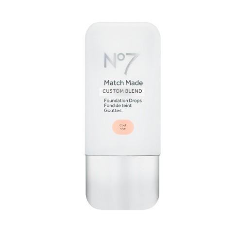No7 Match Made Foundation Drops - Tan Shades - .5oz - image 1 of 3