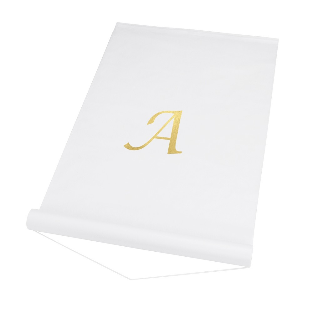34 A 34 Personalized Wedding Aisle Runner White