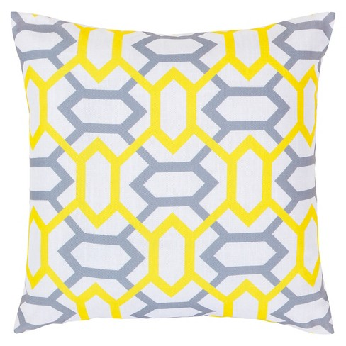 "Lemon Zoe Links Throw Pillow 22""x22"" - Surya® - image 1 of 1"