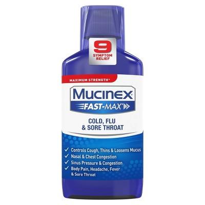 Mucinex Fast-Max Cold, Flu, & Sore Throat Relief Liquid - Acetaminophen - 6 fl oz
