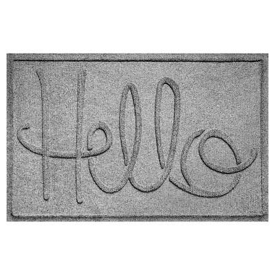 Medium Gray Typography Pressed Doormat - (2'X3')- Bungalow Flooring