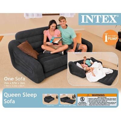 intex inflatable pull out sofa queen bed mattress sleeper w ac rh target com intex inflatable sofa bed intex air sofa bed review