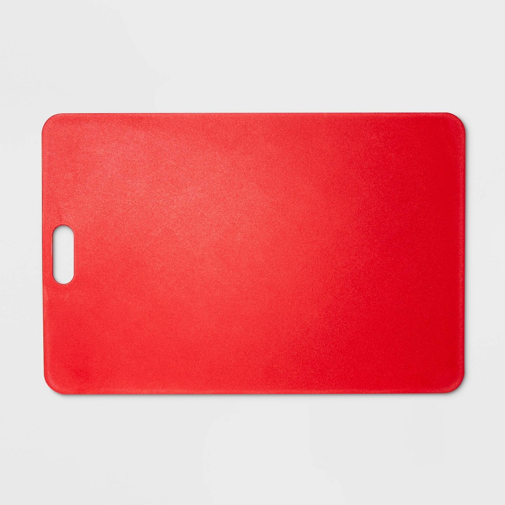 "Image of ""12""""x18"""" Gripper Poly Cutting Board Red - Made By Design"""