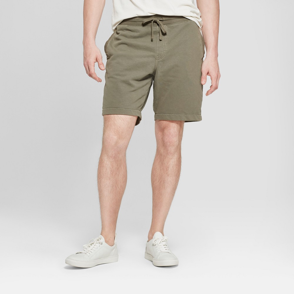 """Image of """"Men's 11"""""""" Solid Knit Shorts - Goodfellow & Co Olive 2XL, Green"""""""