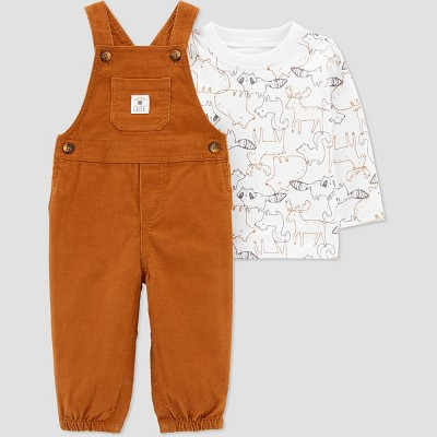 Baby Boys' Animal Top & Bottom Set - Just One You® made by carter's Brown Newborn