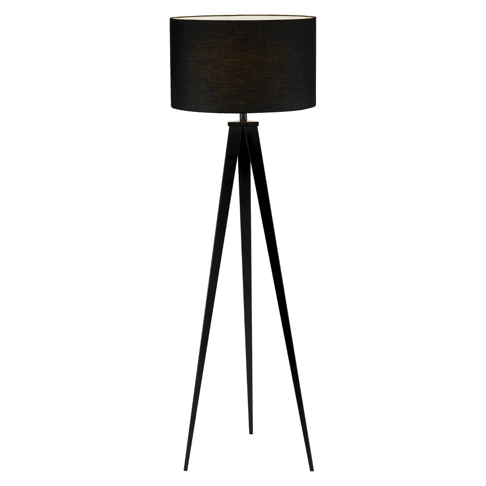 Image of Adesso Director Floor Lamp - Black