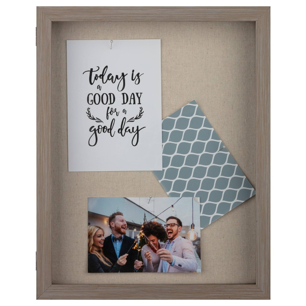 """Image of """"12"""""""" x 15"""""""" Distressed Shadow Box Gray - Gallery Solutions"""""""