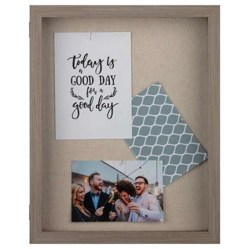 """12"""" x 15"""" Distressed Shadow Box Gray - Gallery Solutions - image 1 of 4"""