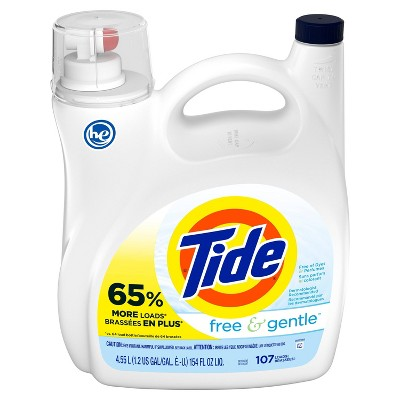 Tide Free Liquid Laundry Detergent - 154 fl oz