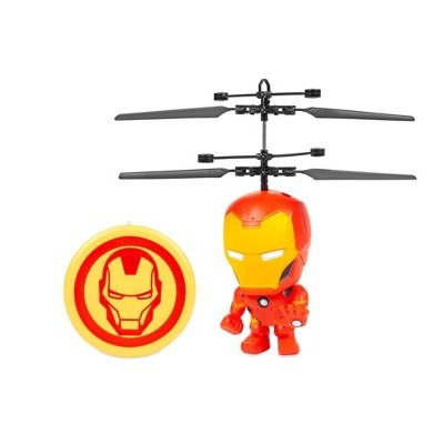 "World Tech Marvel 3.5"" Iron Man Flying Figure IR Helicopter"