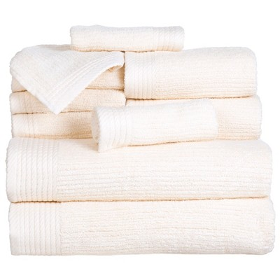 Solid Bath Towels And Washcloths 10pc Bone - Yorkshire Home