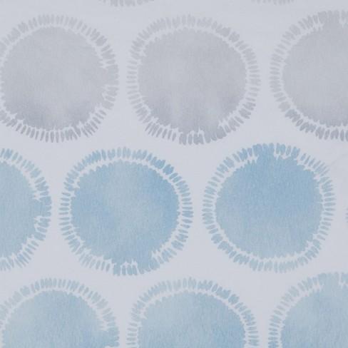 Swag Circles Shower Curtain Blue