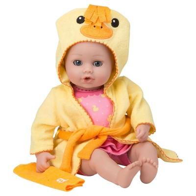 Adora Baby Bath Toy Ducky, 13 inch Bath Time Doll with QuickDri Body
