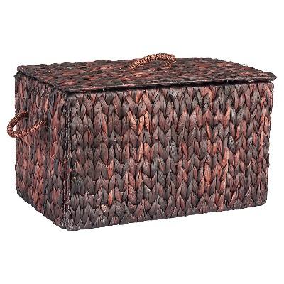 Household Essentials   Small Autumn Wicker Storage Trunk   Brown
