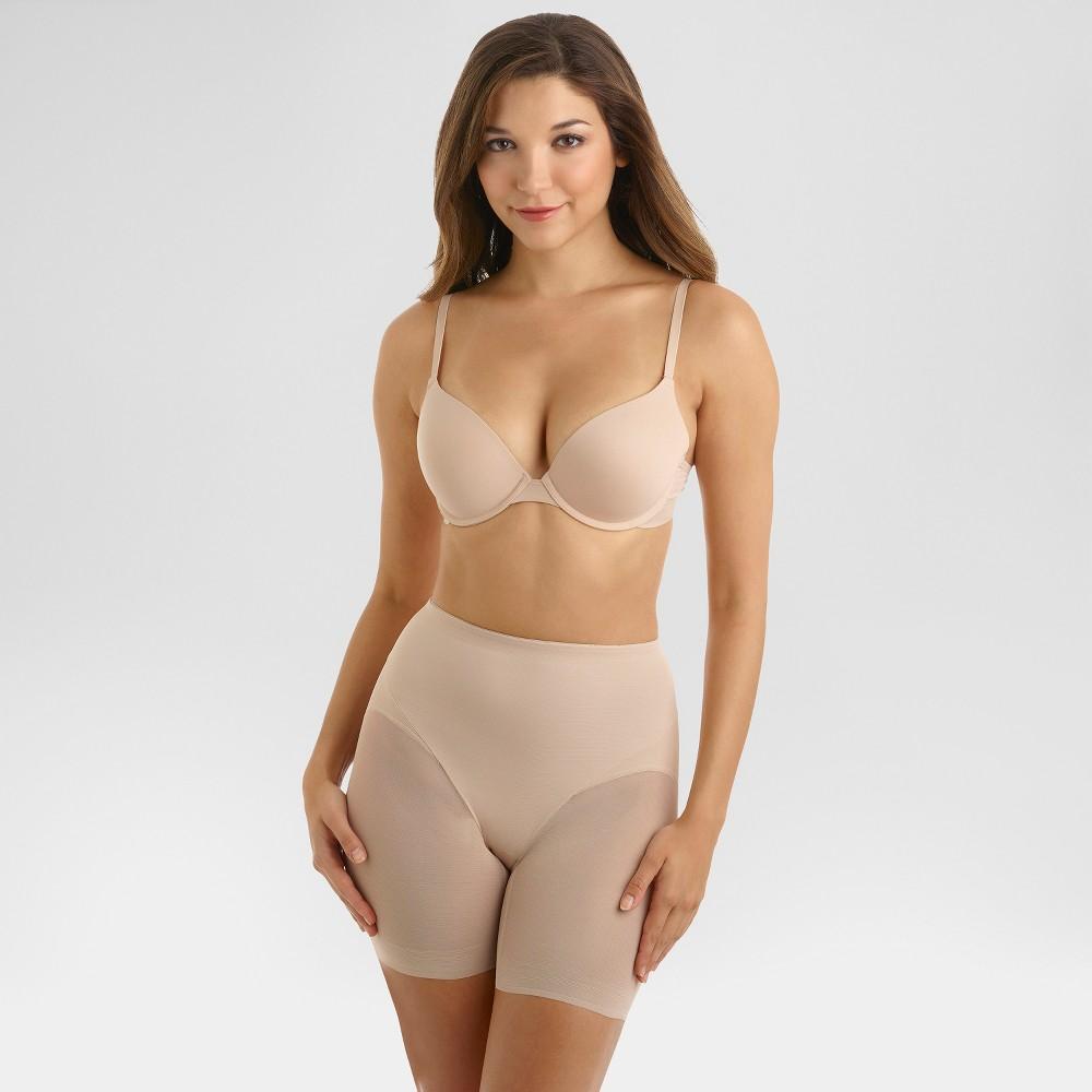 Slimshaper By Miracle Brands Women S Sheer Booty Lift Shortie Nude L