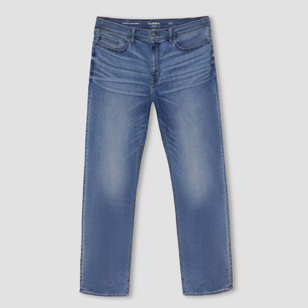 Men 39 S Big 38 Tall Athletic Fit Jeans Goodfellow 38 Co 8482 Light Blue 50x30