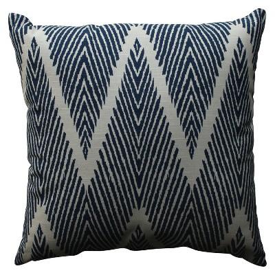 Navy Bali Throw Pillow 18 x18  - Pillow Perfect