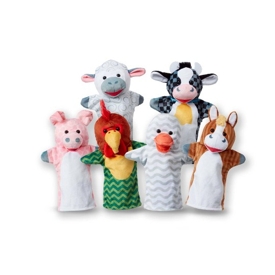 Melissa & Doug Barn Buddies Hand Puppets 6pc image number null