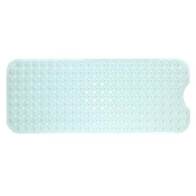 XL Non-Slip Bathtub Mat with Drain Holes Light Green - Slipx Solutions