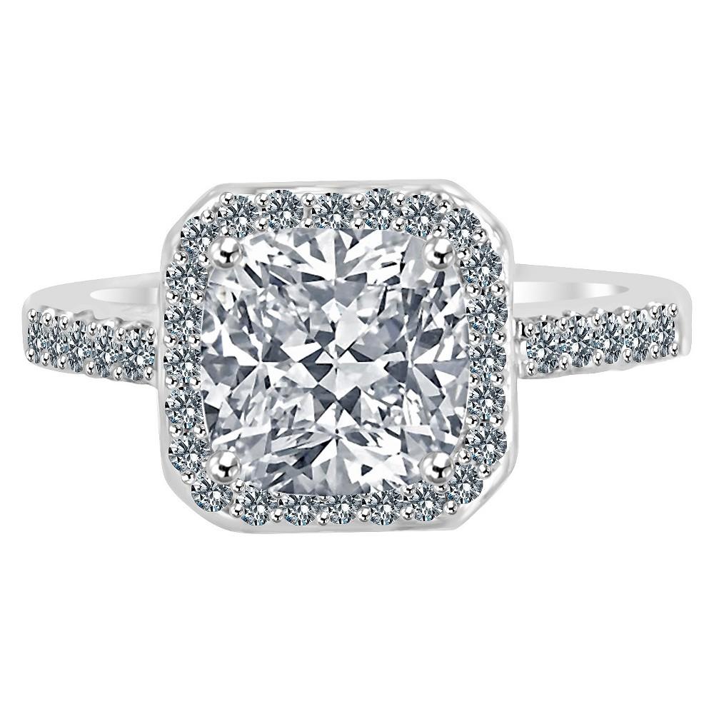 Women's Zirconite 1.5ctw Square Princess Cut Cubic Zirconia Ring, Size: 5, Clear