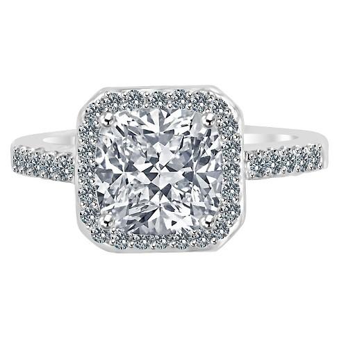 Women's Zirconite 1 5ctw Square Princess Cut Cubic Zirconia Ring