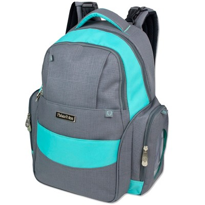 Fisher-Price Skye Diaper Backpack - Gray/Aqua