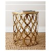 Vista Round End Table Gold - Abbyson Living - image 2 of 3