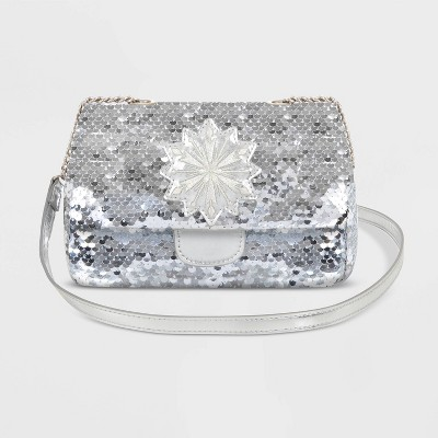 Kids' Disney Frozen Flip Sequin Handbag - Silver/White - Disney Store