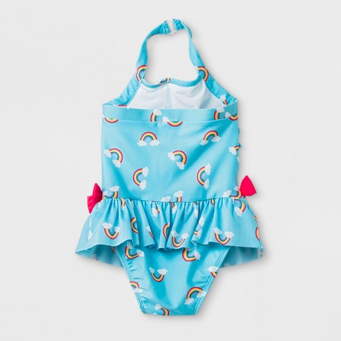 1e289d3868 Toddler Girls' Rainbow Print One Piece Swimsuit - Cat & Jack™ Blue : Target