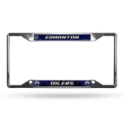 NHL Edmonton Oilers View Chrome License Plate Frame
